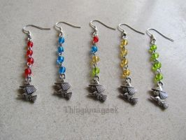 Quidditch - Harry Potter Inspired Earrings by thingamajik