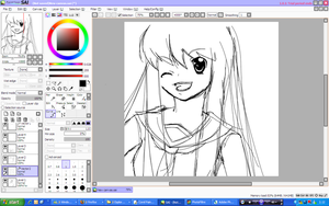 An unfinished lineart by Ryucchan