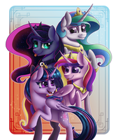 Alicorns of Equestria by MidnightSix3