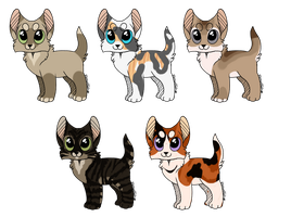 ADOPTABLES   Batch Five   CLOSED by rainwolfeh
