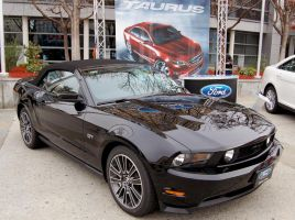 black on black 2010 Mustang GT by Partywave