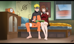 Commission - Akiko and Naruto 2 by dannex009