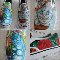 Alice In Wonderland shoes by ChelseaIsCarter