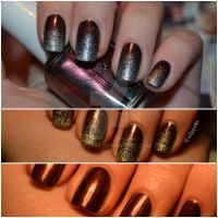 sparkly ombre tips by siljejo96