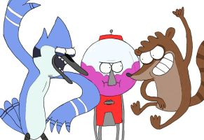Regular Show collab by kiwi-bat