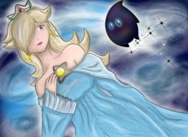 Rosalina coloured by Ugh-first-aid