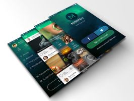 Modren Mobile App UI Kit by dxgraphic
