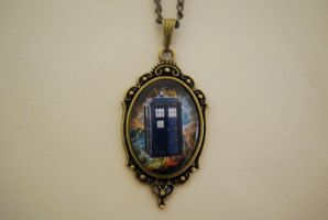 TARDIS Galaxy Necklace by Lisa-Locket