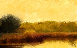 Post-impressionist landscapes by chachajonni