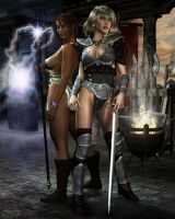 Sword and Sorcery by PitchBLACK-Art