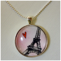 Eiffel Tower Necklace by cellsdividing