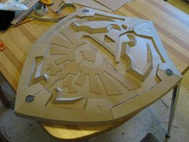 Hylian Shield Details by xHylianKnightx