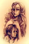 Mother and child by Oruba