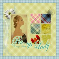 Vintage Pin-Up Lady by noema-13