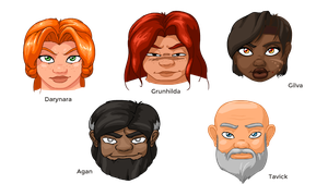 Dwarves Headshot V1 by katheb