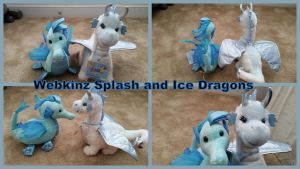 Webkinz Splash and Ice Dragon! by Vesperwolfy87