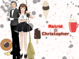 :NewComers: Astrid n Christopher Rose by The-True-Darkness