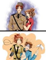 aph Italy : 1p vs 2p by pink-crest