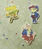 Pokemon Diamond Pearl charms by kouweechi