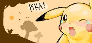 just cry it out pikachu by AppleLove