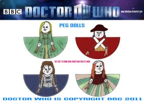 Doctor Who - Peg Dolls by mikedaws