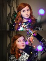 Christmas Amy Pond cosplay 02 by valeravalerevna