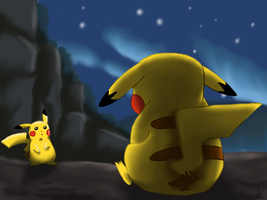 Pikachu and Pikachutwo by Coppertooth