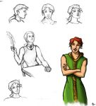 Bill Weasley Sketches by The-Starhorse