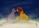 Vitani and Kopa in love by Kruemelforever