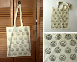 Snitch Tote by lazylinepainterjane