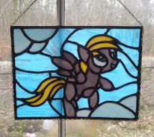 My Little Pony - Derpy Hooves in stained glass! by vulpinedesigns