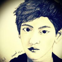 Park Chanyeol Sketch By Intan by intankomara