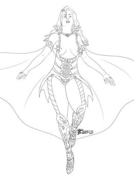 Queen Dracula SKETCH by whiteguardian