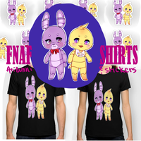 FNAF Stickers and Shirts by Ari-bunnii