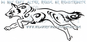 Tribal Swirl German Shepherd Design by WildSpiritWolf