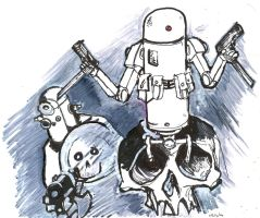 robots speed drawing by YouCannotFalter