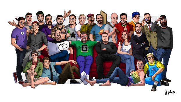 A Mindcrack Family Picture by IlI4n