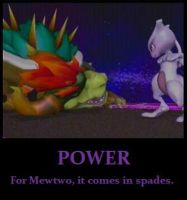 Mewtwo motivational poster by OddDeity