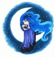 Princess Luna Chibi by LittleBreeze