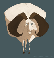 Bighorn Ram by sketchinthoughts