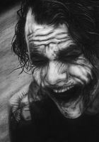 Heath Ledger as The Joker by starsinmyeyesxxx