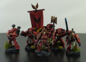 Blood Angels Command Squad by adamaknight