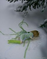 Unconscious in the Snow. by FallMoonlitRose