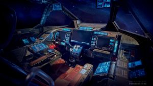 Heavy Fighter Cockpit by Vattalus