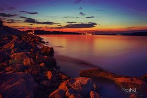 In the distance, there is a Zemun by Piroshki-Photography