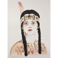 Wednesday Addams Watercolor Portrait by LordColinOneal