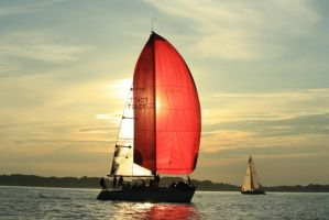 Sunset Sailing by DanR83