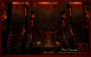 Fire Temple - View of the Pagoda by DeaconStone