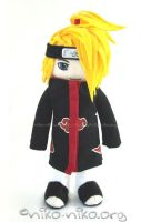 Deidara plushie by momoiro-machiko