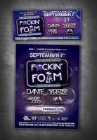 flyer for F*CKIN' FOAM festival by sounddecor
